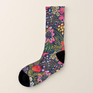 Calcetines Estampado de flores brillante del vintage todo