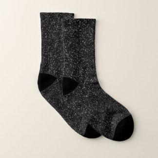 Calcetines Estilo de piedra negro moderno - espacio