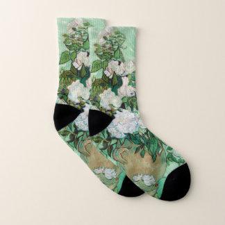 Calcetines Florero de Van Gogh con arte floral del vintage