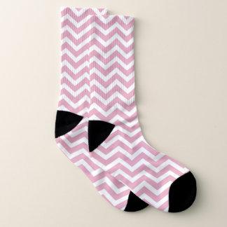 Calcetines Galón rosado y blanco