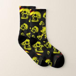 Calcetines Giro Cráneo-Amarillo