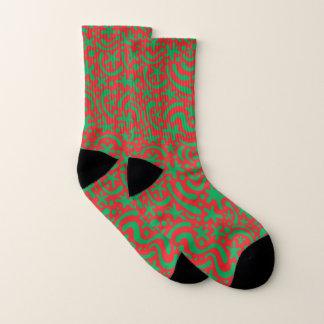 Calcetines Gota y Squiggle locos del navidad