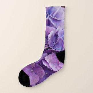 Calcetines Hydrangea púrpura en fotografía del tarro de