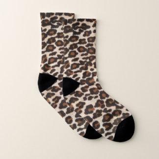 Calcetines Impresión salvaje del leopardo
