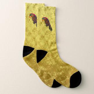 Calcetines Loros en efecto metalizado de oro azulverde rojo