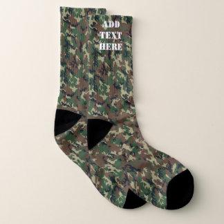 Calcetines Los militares del camuflaje del arbolado modelan