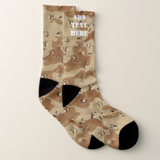 Calcetines Los militares del camuflaje del desierto modelan