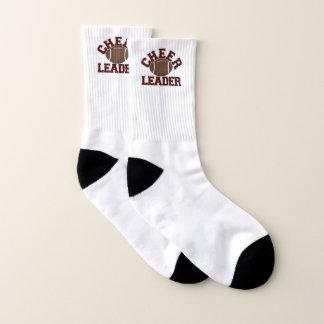 Calcetines marrón de la animadora del fútbol