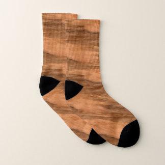 Calcetines Mirada de madera del grano del eucalipto natural