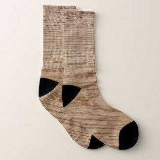 Calcetines Mirada del grano de madera de roble