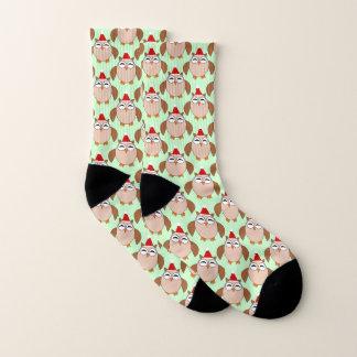 Calcetines modelados búho lindo del navidad