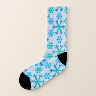 Calcetines Modelo azul y blanco del hexágono del copo de