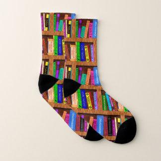 Calcetines Modelo bonito del estante de la biblioteca de los