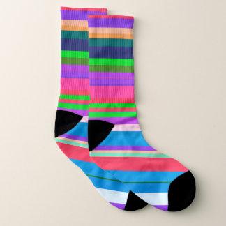 Calcetines Modelo vibrante de la raya del color