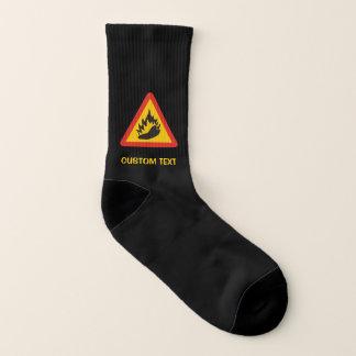 Calcetines Muestra del peligro del pimiento picante