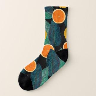Calcetines Negro de los limones y de los naranjas