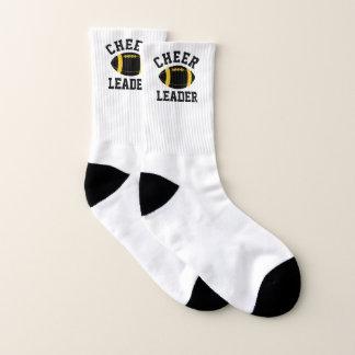 Calcetines negros y amarillos de la animadora del
