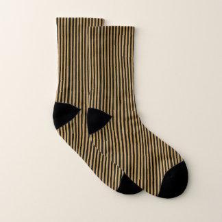 Calcetines Oro y rayas negras