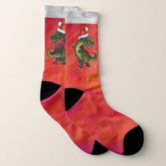 Calcetines Pies del navidad de la diversión de Trex