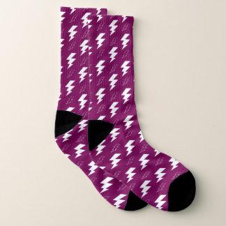Calcetines Púrpura blanca del aligeramiento
