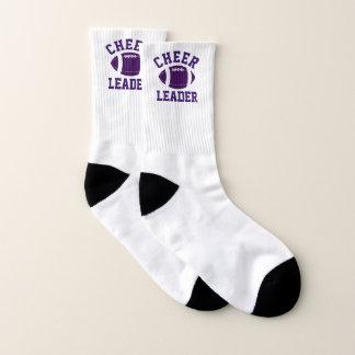 Calcetines púrpuras y blancos de la animadora del