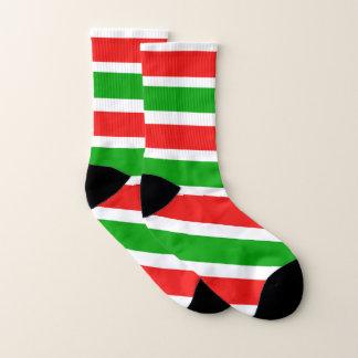 Calcetines Rayas del color del navidad