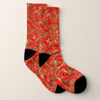 Calcetines Rojo de la impresión del lux de Flyology