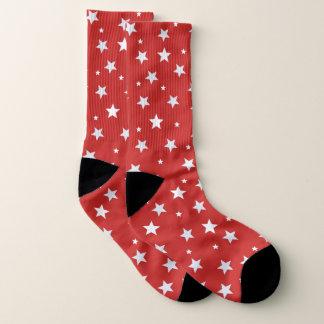 Calcetines rojos con las estrellas blancas