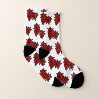 Calcetines rojos del Poinsettia