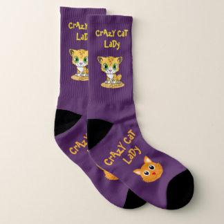 Calcetines Señora loca púrpura Large Socks Women's los US del