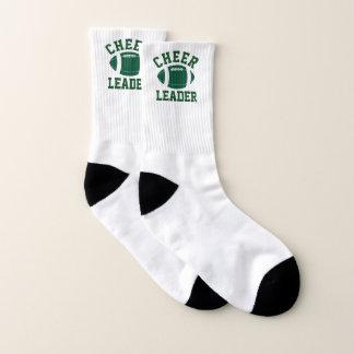 Calcetines verdes de la animadora del fútbol