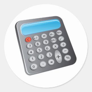 Calculadora Pegatina Redonda