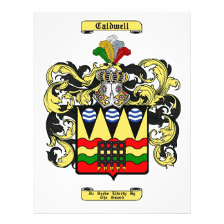 caldwell (irlandés) folleto 21,6 x 28 cm