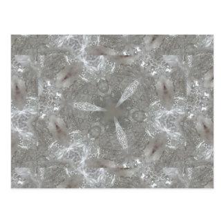 Caleidoscópico decorativo de los gris plateados postal