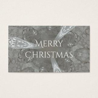 Caleidoscópico decorativo de los gris plateados tarjeta de negocios