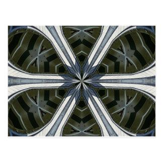 caleidoscopio abstracto postal