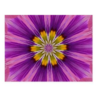 Caleidoscopio alegre de la púrpura de la esperanza postales