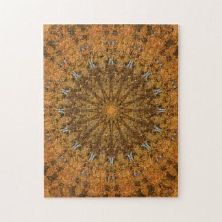 Caleidoscopio de la mandala del otoño de Brown, Puzzle
