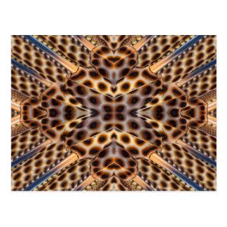 Caleidoscopio de la pluma del faisán de Brown Postal