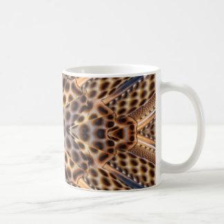 Caleidoscopio de la pluma del faisán de Brown Taza De Café