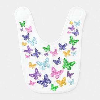 Caleidoscopio de mariposas - babero