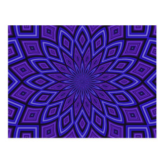 Caleidoscopio púrpura de la conciencia postal