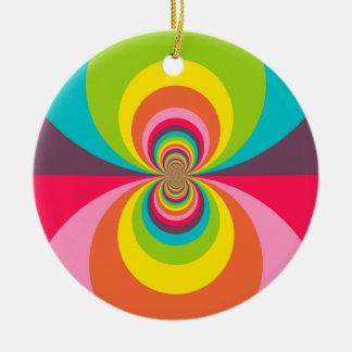 Caleidoscopio retro maravilloso del arco iris del adorno redondo de cerámica