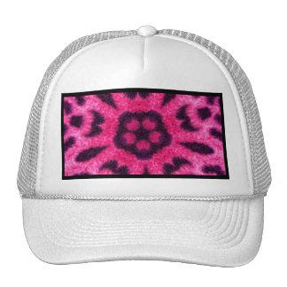 Caleidoscopio rosado de lujo de la flor del leopar gorro