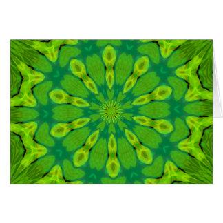 Caleidoscopio verde del safari tarjeta pequeña