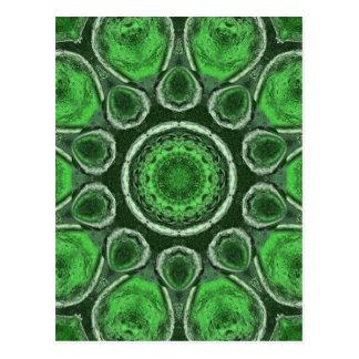 Caleidoscopio verde postal