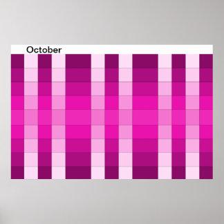 Calendario 10 de octubre del mes del poster del ar