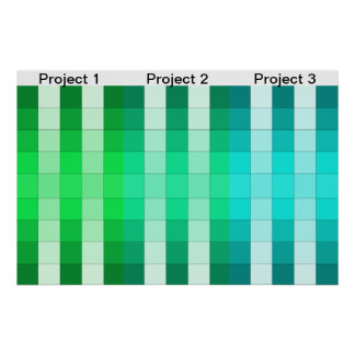 Calendario 1 del proyecto del poster del arco iris