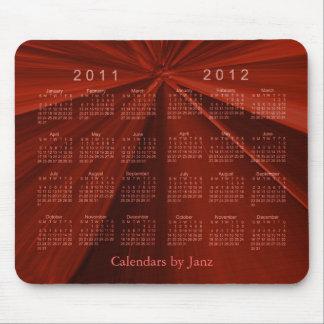 Calendario 2011-2012 de 2 años alfombrilla de ratón