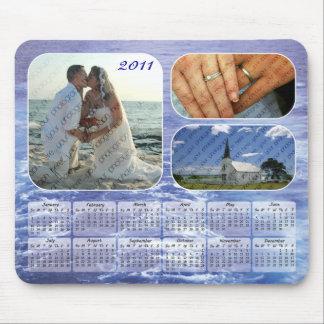 Calendario 2011 de las fotos del océano Mousepad